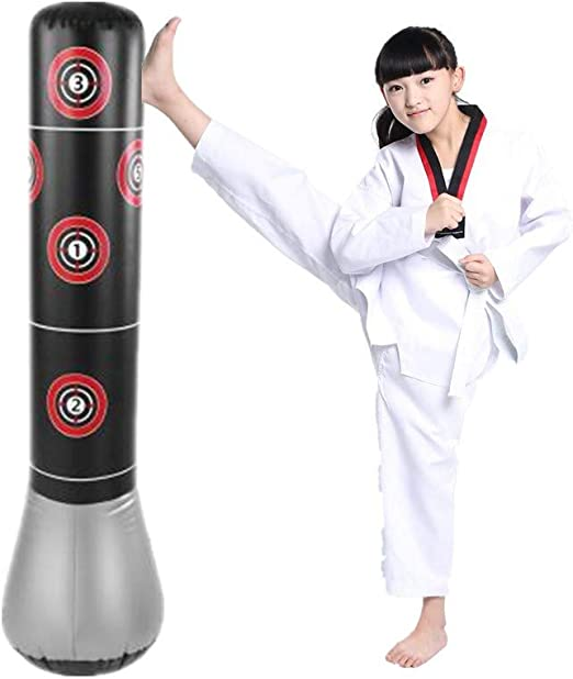 Boxsack Sandsack Erwachsene Kinder Boxtraining Aufblasbar Standboxsack PVC DHL