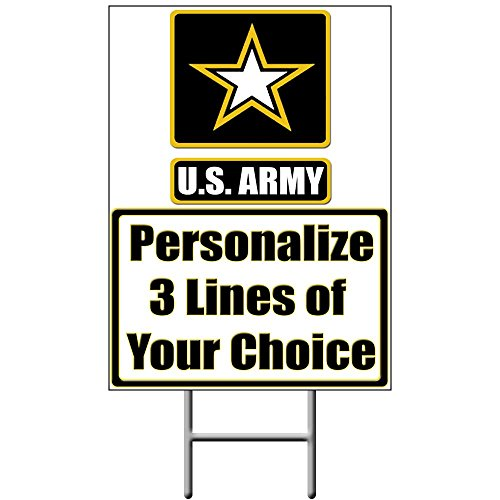 - US Army Personalized Yard Sign (Each) - Customized by Partypro