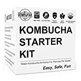 GetKombucha Kombucha Kit PLUS Organic Starter Tea For Brewing Healthy, Delicious, DIY Kombucha Tea Right From Home + 19¢ /Serving vs $5 Store Bottles. Improve Digestion With Homemade Probiotics!