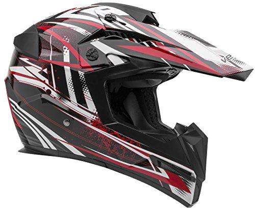 Vega Helmets MIGHTY X Kids Youth Dirt Bike Helmet – Motocross Full Face Helmet for Off-Road ATV MX Enduro Quad Sport, 5 Year Warranty (Red Blitz Graphic,Medium)