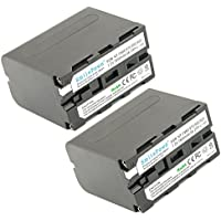 SmilePowo 2 Pack NP-F970 Decoding Battery 7800MAH for Sony NP-F975, NP-F960, NP-F950, NP-F930, NP-F770, NP-F750, NP-F550, DCR, DSR, HDR, FDR, HVR, HVL,Camera and LED Video Light
