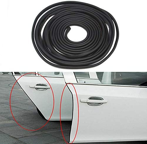 U Shape Car Door Trim Protectors Edge Guards Rubber Seal Strip//Easy Installation No Glue Required Internal Double Sided Tape,13ft 4M Black