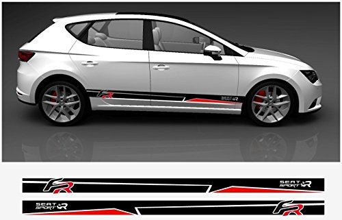 Seat Leon FR side decal decal set (black  red)