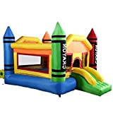 New Inflatable Crayon Bounce House Castle Jumper Moonwalk Bouncer Without Blower Easy And Quick To Blows Up