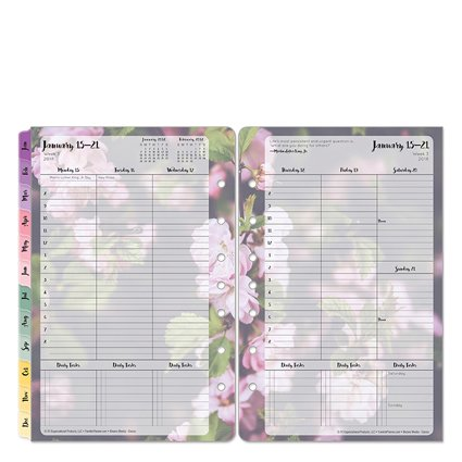 Classic Blooms Weekly Ring-bound Planner - Jan 2018 - Dec 2018