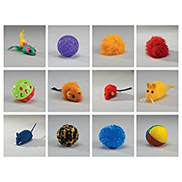 Zanies Kitty Playstation Refills: Squeaky Mice Cat Toys, 48 Pieces