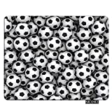 Nicokee Gaming Mousepad Cool Soccer Ball Art Amazing Football Pattern Mouse Pad Rectangle Mouse Mat for Computer Desk Laptop Office 9.5 X 7.9 Inch Non-Slip Rubber