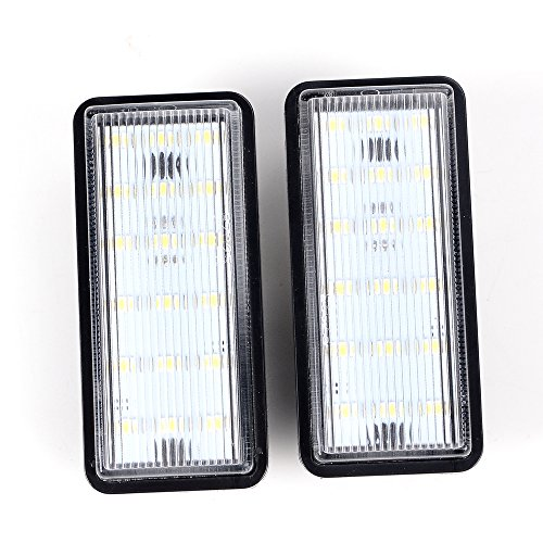 Anzio 2 X 18 1210-SMD LED Direct Replacement License Plate Light Kit for Lexus LX470 GX470 Toyota Land Cruiser Cygnus 100-Series - Xenon White (Led Toyota Cruiser Land)