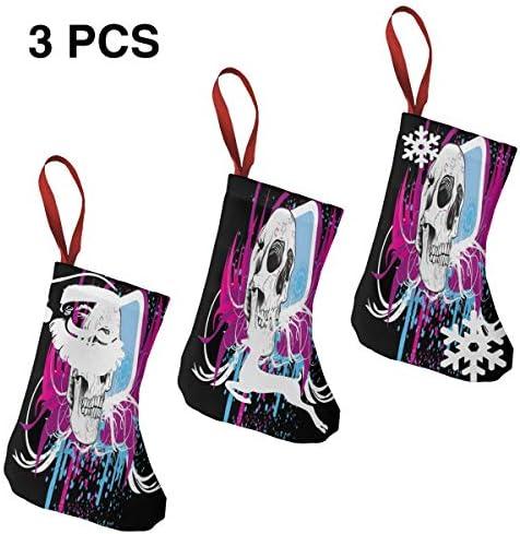 クリスマスの日の靴下 (ソックス3個)クリスマスデコレーションソックス ?? クリスマス、ハロウィン 家庭用、ショッピングモール用、お祝いの雰囲気を加える 人気を高める、販売、プロモーション、年次式