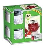 8oz ball jar lid - Ball Jelly Elite Collection Jam Jar (4 Pack) - 8 oz - Clear