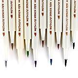 Ohuhu Metallic Marker Pens, Set of 10 For Birthday Greeting Gift Thank You Card, DIY Photo Album, Rock Art Painting, Brush Tip