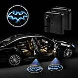 #9: Akaho Car Door LED Projector Light Night Cold Blue bat batman Black Wireless courtesy welcome logo shadow ghost light laser projector Magnet Sensor ( 2 Pcs )