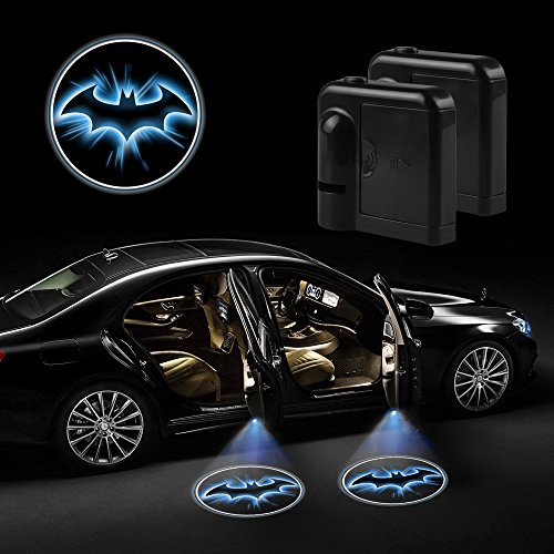Akaho-Car-Door-LED-Projector-Light-Night-Cold-Blue-bat-batman-Black-Wireless-courtesy-welcome-logo-shadow-ghost-light-laser-projector-Magnet-Sensor-2-Pcs