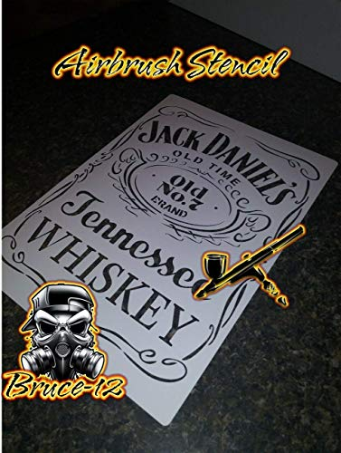 """Whiskey Airbrush Stencil Jack Daniels reusable 8""""x11"""" for sale  Delivered anywhere in USA"""