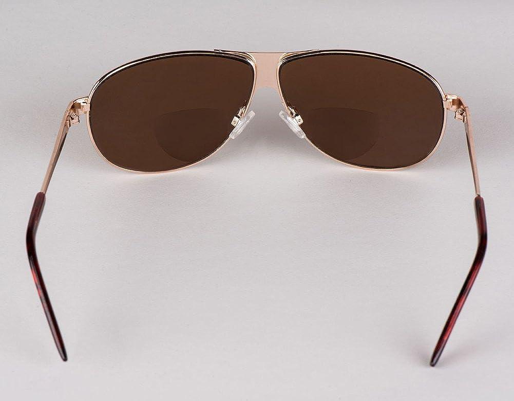 9ca027e7e5a soolala mens moore aviator nearly invisible line bifocal sunglasses with  readers