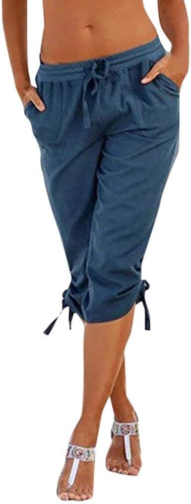 RYTEJFES Pantalones Mujer Cortos Deporte Verano Bombacho Yoga ...