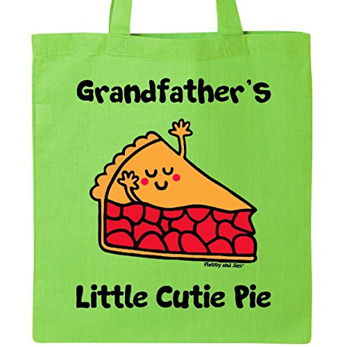 Inktastic - grandfather's little Cutie Pie Tote Bag Lime Green - Flossy And Jim