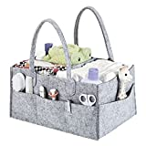 Diaper Caddy Organizer, Baby Diaper Caddy, Nursery Storage Basket Bin and Car for Diapers and Baby Wipes, Nappy Bags for Mom, Toys Storage for Child