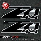 Z71 Black Silverado 4x4 Decal Sticker Set