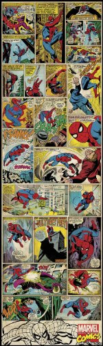 "Marvel Comics ""Spiderman"" Classic Collage Wall Decal 17.25""x60"""