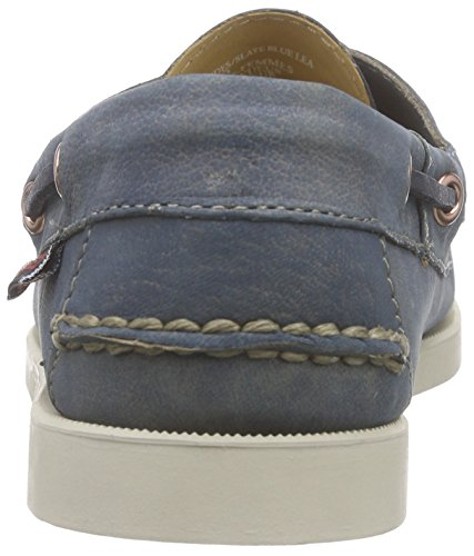 Sebago Women's Docksides Boat Shoes, Red Blue - Blau (Slate Blue Lea)