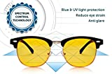 SafetyBlue Premium Gamer Glasses and Computer Eyewear - Digital Eye Strain Relief Glasses Block Out Blue Light To Reduce Eye Strain and Headaches - With UV Protection For Men and Women