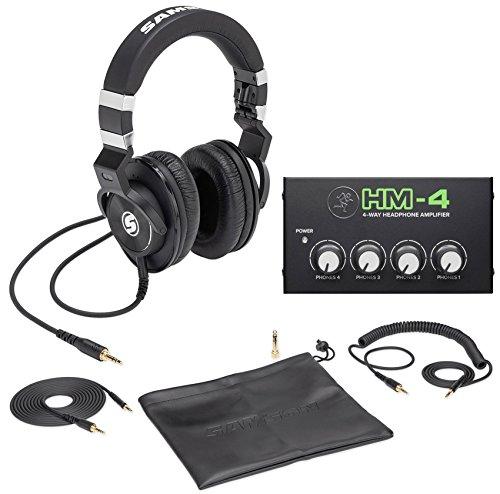 - Samson Z-45 Lambskin Studio Headphones+Mackie 4-Way Distribution Amplifier Amp