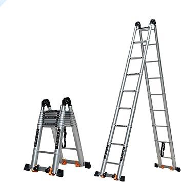 Jian E Escalera Telescópica Escalera telescópica de aleación de aluminio Escalera plegable doméstica Escalera multifunción portátil Escalera de ingeniería for loft, casa alrededor, construcción: Amazon.es: Bricolaje y herramientas