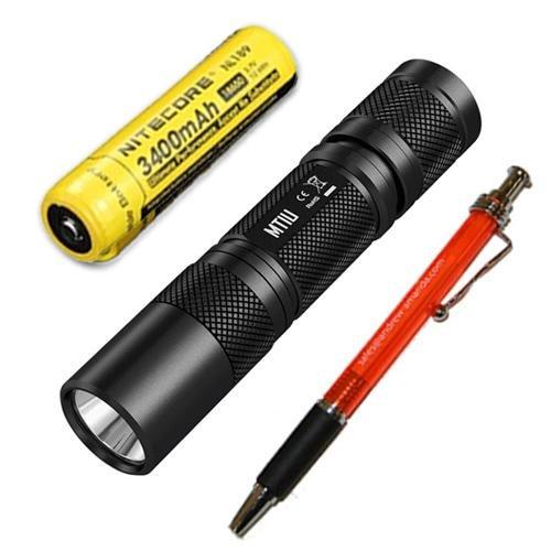 Combo: Nitecore MT1U UV LED Flashlight 365nm w/NL189 Battery +FREE Andrew & Amanda Pen