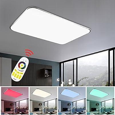 vingo lámpara Techo 48W RGB Regulable Resistente al Agua lámpara ...