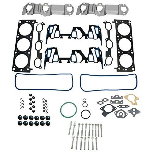 Engine Cylinder Head Gasket & Bolt Set for Buick Chevy Olds Pontiac 3.1L 3.4L V6 1A Auto