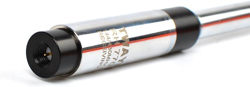 430MHz Sam-Hombre Doble Banda Radio-transmisor-Receptor Antena telesc/ópica 35 Pulgadas 3.0//5.5dBi Alta Ganancia Extensible para BaoFeng UV-3R U-100 Kenwood Wouxun KG-UV6D KG-UV8D WAL UHF//VHF 144