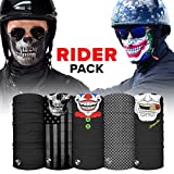 Automotive : S A - UV Face Shields 5 Pack - Multipurpose Neck Gaiter, Balaclava, Elastic Face Mask for Men and Women (Rider)