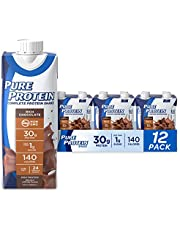 Pure Protein Chocolate Protein Shake | 30g Complete Protein | Ready to Drink and Keto-Friendly | Vitamins A, C, D, and E plus Zinc to Support Immune Health | 11oz Bottles | 12 Pack