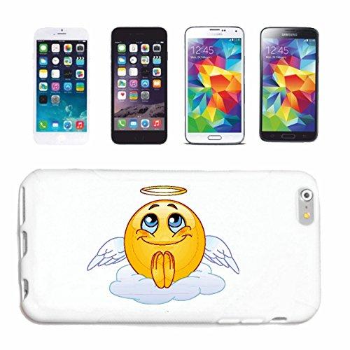 """cas de téléphone iPhone 7S """"MERRY SMILEY DANS LE CIEL AVEC HALO """"SMILEYS SMILIES ANDROID IPHONE EMOTICONS IOS grin VISAGE EMOTICON APP"""" Hard Case Cover Téléphone Covers Smart Cover pour Apple iPhone e"""