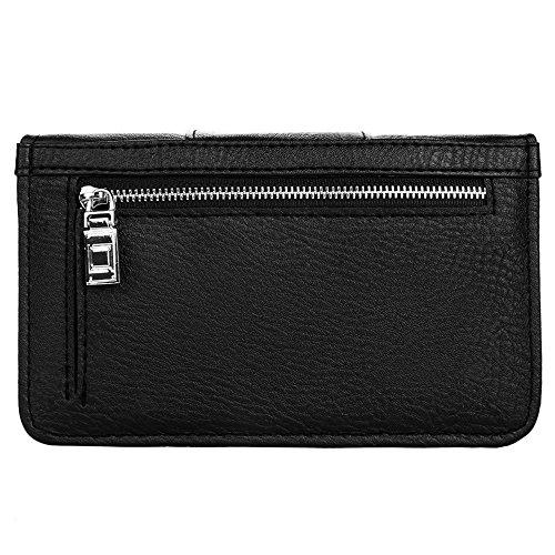 Wallet Purse 7 LG S7 Plus Phone X S8 Handbag Note8 Leather Clutch Black Galaxy V30 iPhone Cell Organizer Black Crossbody Roxie 8 for Womens fwXR6qX0