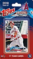 Los Angeles Angels 2018 Topps Factory Sealed Special Edition 17 Card Team Set with Mike Trout and Albert Pujols plus Shohei Otani Rookie Card and others