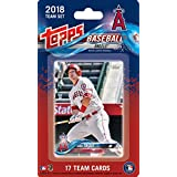 Los Angeles Angels 2018 Topps Factory Sealed EXCLUSIVE Special Edition 17 Card Team Set with Mike Trout and Albert Pujols plus Shohei Otani Rookie Card and others