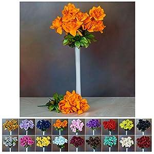 Efavormart 168 Open Velvet Roses Wedding Flowers Bouquets DIY Decoration Supply - 16 Colors 83