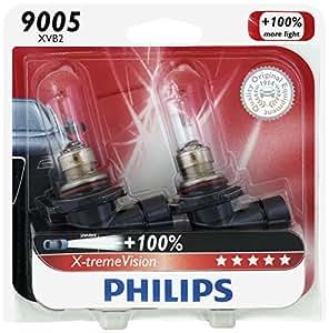 Philips 9005 X-tremeVision Upgrade Headlight Bulb, 2 Pack