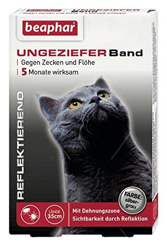 Beaphar 75424 Ungezieferhalsband für Katzen reflektierend, 35 cm