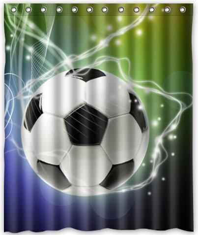 Popular Design Football Shower Curtain 60quotw X 72quoth