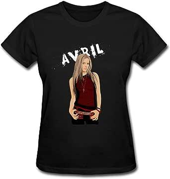 Duanfu Avril Lavigne Cartoon Women's Cotton Short Sleeve T-Shirt
