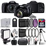 Canon PowerShot SX530 HS Digital Camera 9779B001 + LED Kit + Backup Battery + Macro Filter Kit + UV-CPL-FLD Filters + Wireless Remote Control + 32GB Class 10 Memory Card - International Version