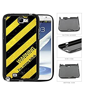 Warning I'm Crazy Bitch Hard Plastic Snap On Cell Phone Case Samsung Galaxy Note 2 II N7100 by supermalls