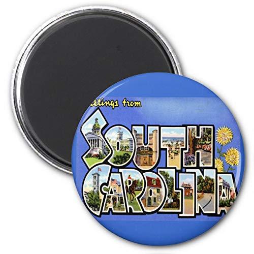 (Zazzle South Carolina Sc Large Letter Vintage Postcard Magnet, 2.25