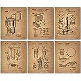 Whiskey Patent Wall Art Prints - Set of Six Vintage Whisky Photos