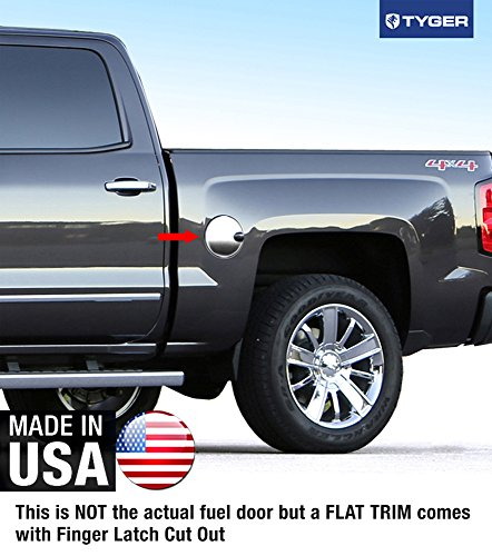 Tyger Auto Made in USA! Works with 2007-2015 Chevrolet Silverado/07-2015 GMC Sierra Gas Cap Chrome Stainless Steel Fuel ()