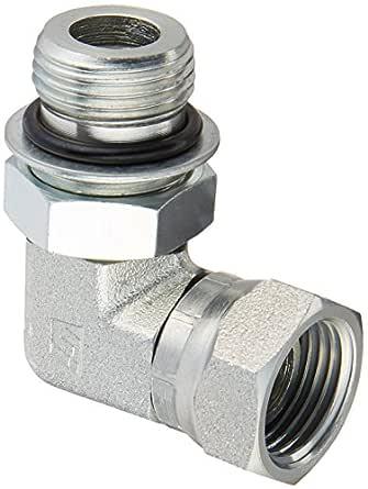 1//2 Male Adjustable O-Ring Boss x 1//2 Female NPTF Swivel Brennan Industries 6901-08-12-NWO-FG Forged Steel 90 Degree Elbow Tube Fitting 3//4-16 SAE ORB x 3//4-14 NPSM Thread