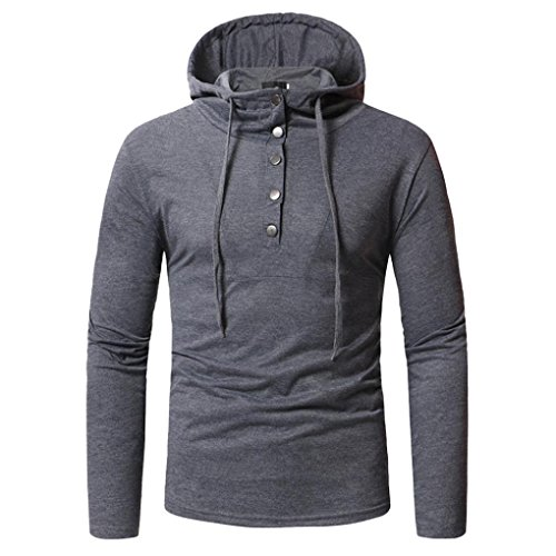 (Clearance Sale! Wintialy Fashion Men's Autumn Fastener Long Sleeved Hoodie Sweatshirts Top Blouse)